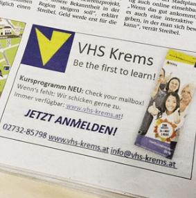 VHS Krems Inserat