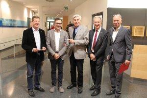 Stadtrat KR Prof. Helmut Mayer, Hubert Jaksch, DI Ernst Kalt, Mag. Leo Faltus